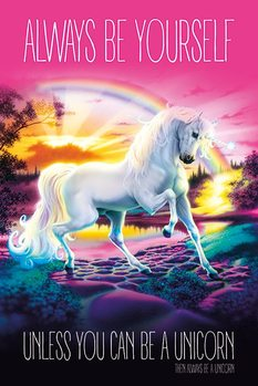 Juliste  Unicorn - Always Be Yourself