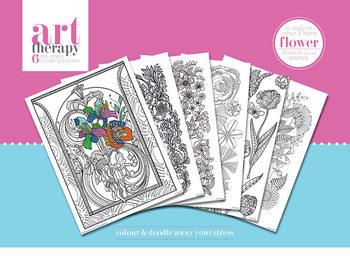 Väritysjuliste Art Therapy - Flower