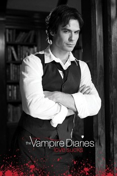 Juliste Vampire Diaries - Damon (B&W)
