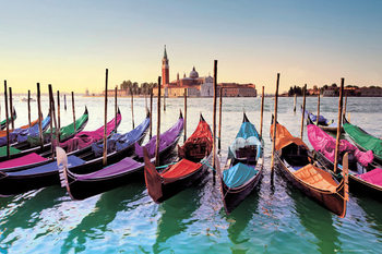 Juliste Venetsia - gondolas