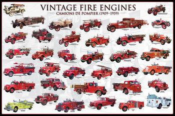 Juliste  Vintage fire engines