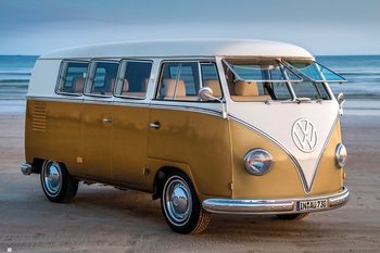 Juliste  Volkswagen - Brendan Ray Gold Kombi III