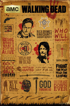 Juliste  Walking Dead - Infographic