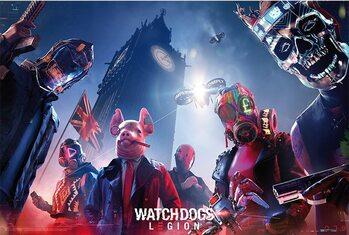 Juliste Watch Dogs - Keyart Legion