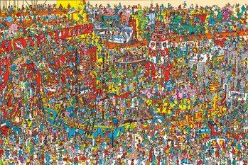 Juliste Where's Wally - Toys, Toys, Toys