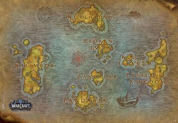 Juliste World Of Warcraft - Map
