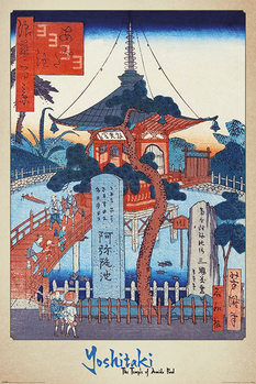 Juliste  Yoshitaki - The Temple of Amida Pond