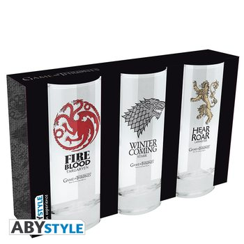 Juomalasi Game Of Thrones - Stark, Targaryen, Lannister