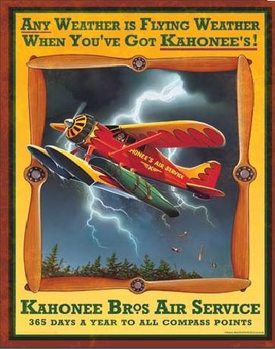 KAHONEE AIR SERVICE Plaque métal décorée