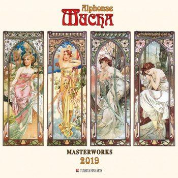 Kalenteri 2019  A. Mucha - Masterworks