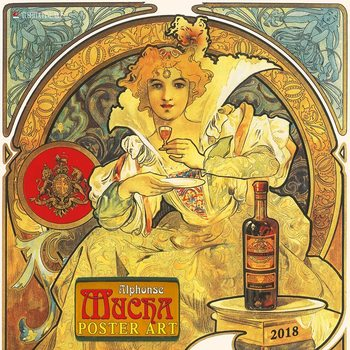 Kalenteri 2018  Alphonse Mucha - Poster Art