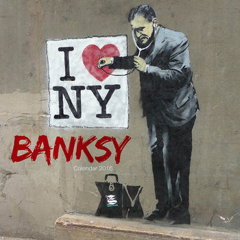 Kalenteri 2017 Banksy Street Art