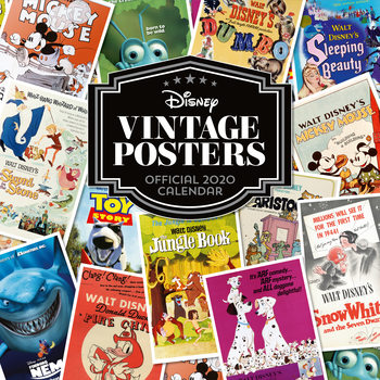 Kalenteri 2020  Disney Vintage Posters