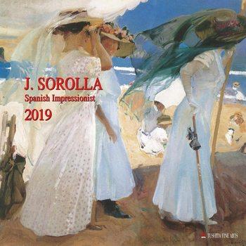 Kalenteri 2019  Joaquin Sorolla - Spanisch Impressionist