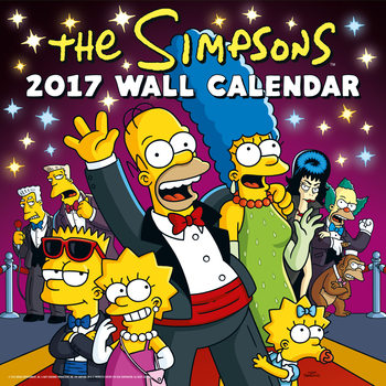 Kalenteri 2017 Simpsonit