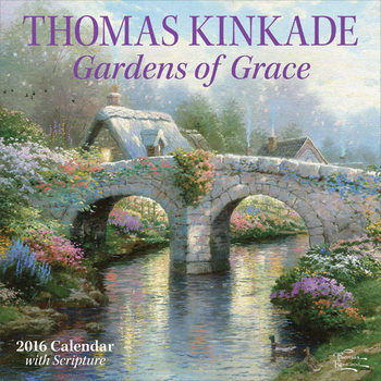 Kalenteri 2018  Thomas Kinkade - Gardens of Grace