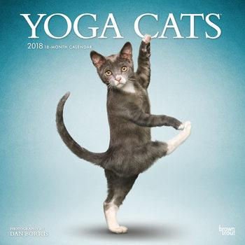 Kalenteri 2018 Yoga Cats