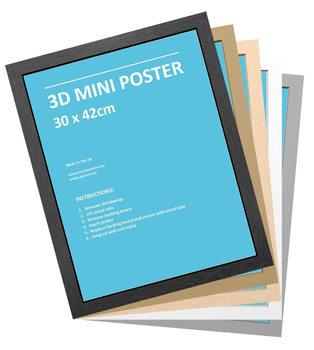Kehys - 3D Mini juliste 30x42 cm Kehys