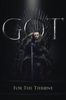 Hra o Trůny (Game of Thrones) - Jon For The Throne Kehystetty laminoitu juliste