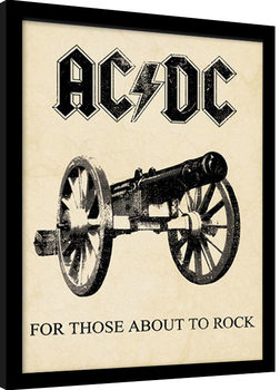 AC/DC - for those about to rock Kehystetty juliste