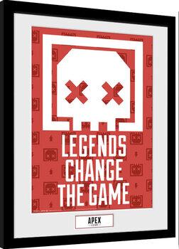 Kehystetty juliste Apex Legends - Legends Change The Game