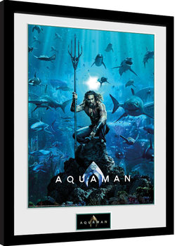 Kehystetty juliste Aquaman - One Sheet