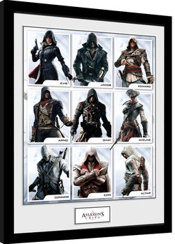 Assassins Creed - Compilation Characters Kehystetty juliste