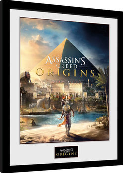 Kehystetty juliste Assassins Creed: Origins - Cover