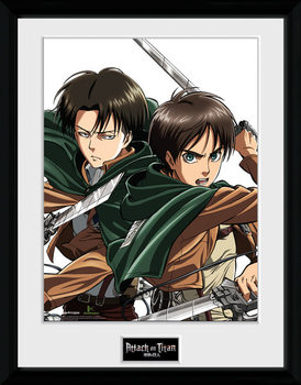 Attack On Titan - Levi kehystetty lasitettu juliste