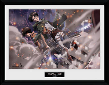 Attack On Titan - Smoke Blast kehystetty lasitettu juliste