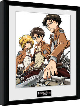 Attack On Titan - Trio kehystetty lasitettu juliste
