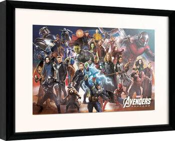 Kehystetty juliste Avengers: Endgame - Line Up
