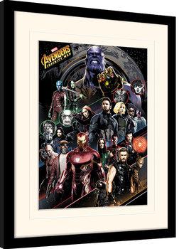 Avengers Infinity War - Character Coloured Bands Kehystetty juliste