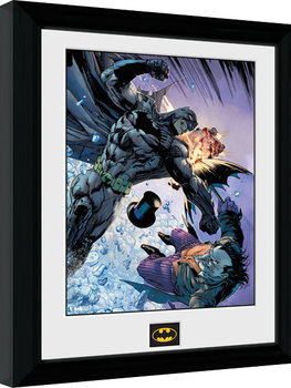 Batman Comic - Fist Fight Kehystetty juliste