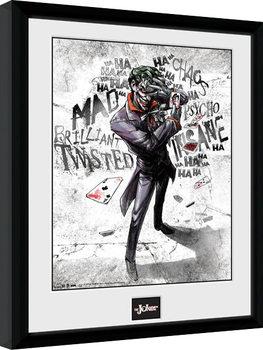 Batman Comic - Joker Type Kehystetty juliste