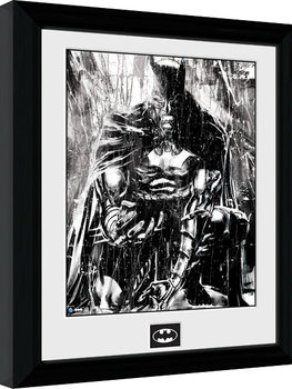 Kehystetty juliste Batman Comic - Rain