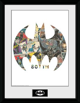 Batman - Comic Symbol Kehystetty juliste