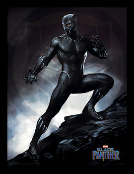 Kehystetty juliste Black Panther - Stance