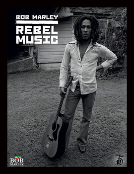 Kehystetty juliste Bob Marley - Rebel Music