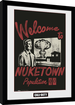 Call of Duty - Welcome to Nuketown Kehystetty juliste