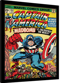 Kehystetty juliste Captain America - Madbomb