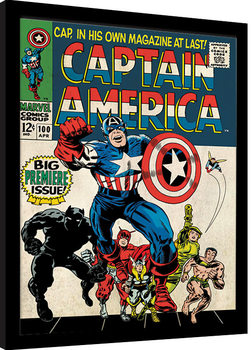 Kehystetty juliste Captain America - Premiere