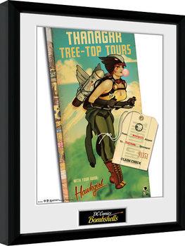 DC Comics - Hawkgirl Bombshells Kehystetty juliste