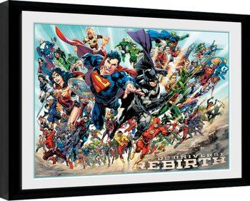 DC Universe - Rebirth Kehystetty juliste