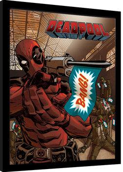 Kehystetty juliste Deadpool - Bang