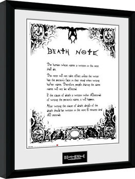 Death Note - Death Note Kehystetty juliste