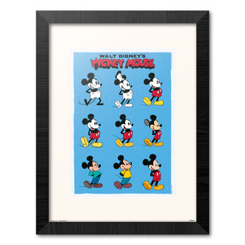 Kehystetty juliste Disney - Mickey Mouse - Evolution
