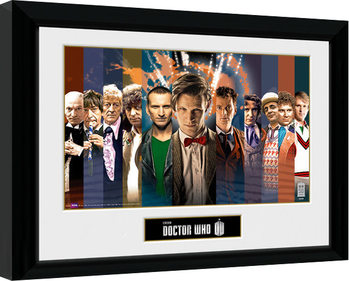 Doctor Who - 11 Doctors Kehystetty juliste