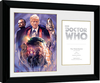 Doctor Who - 3rd Doctor Jon Pertwee Kehystetty juliste