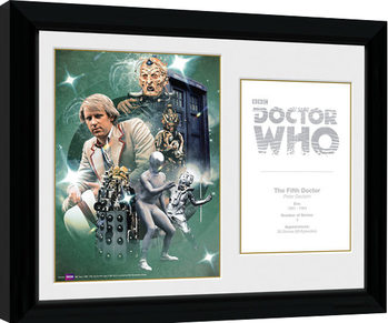 Doctor Who - 5th Doctor Peter Davison Kehystetty juliste